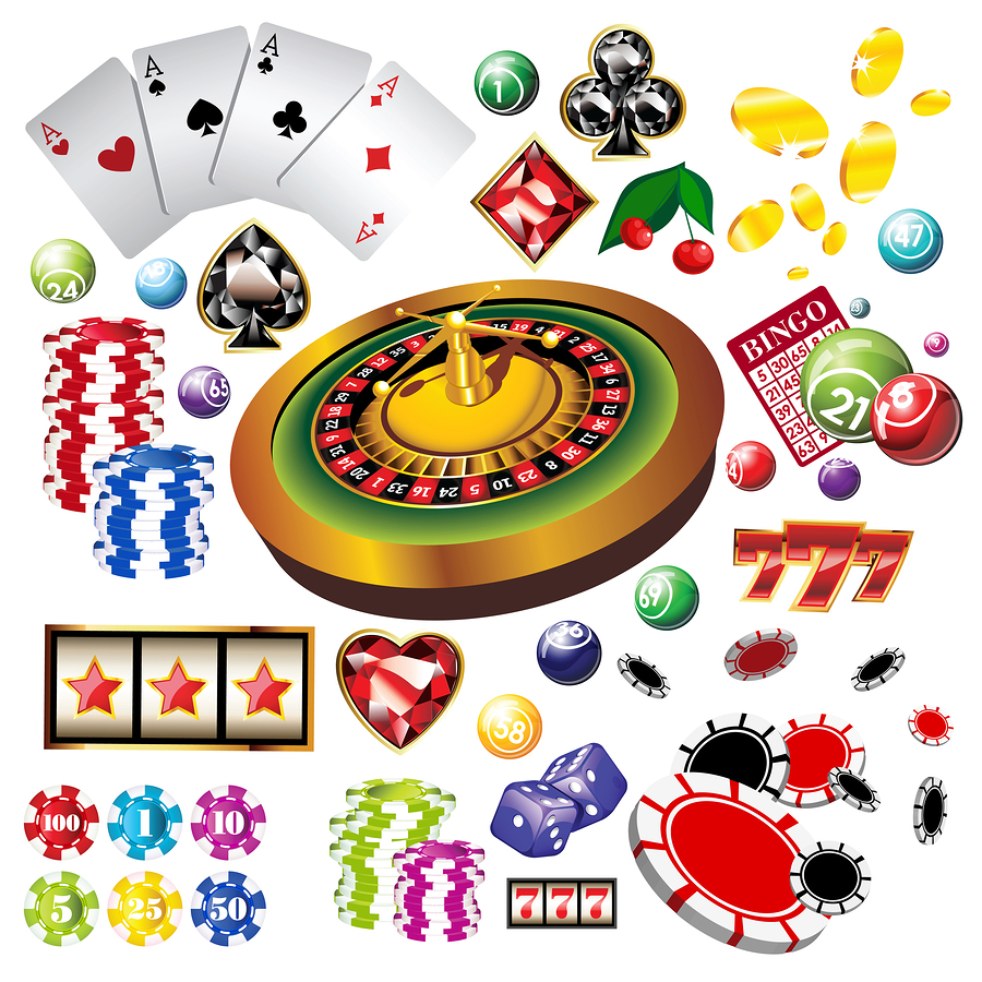 bigstock The set of casino elements or 33978287 Spelguider